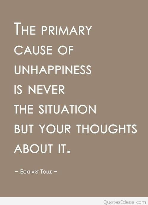 Unhappiness-thinking-quote-Eckhart-Tolle
